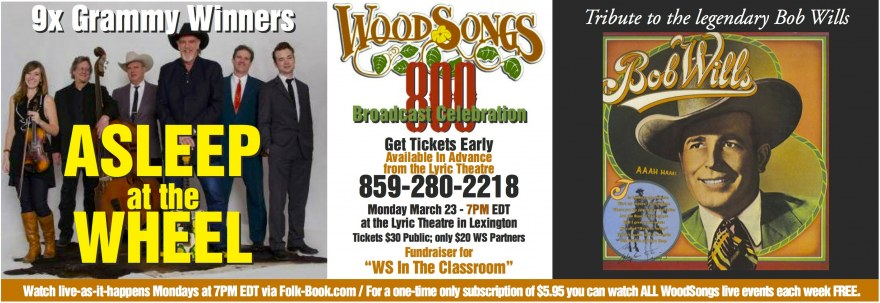 WoodSongs Show 800 3-23-15